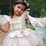 Robe de fée rose pâle et or / 5-6 ans