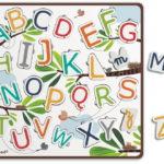 Puzzle lettres ABC ballons