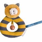 Anneau hochet chat  moutarde Lulu- les moustaches