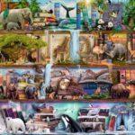 Puzzle 2000 p – Magnifique monde animal / Aimee Stewart