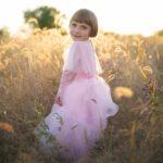 Robe de princesse Luna Elegant in Pink- rose, taille US 3-4