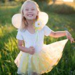 Set de fée Marguerite – Aile, Jupe, et Serre-tête, taille 5-6 ans
