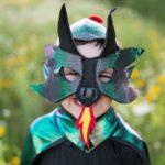 Cape de dragon avec masque taille US 5-6