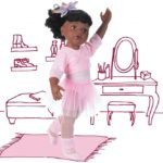 Hannah au ballet, afro, 50 cm