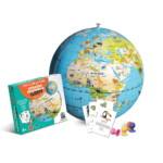 Stick & Quiz Mission Animaux 42 Cm Globe Terrestre Gonflable